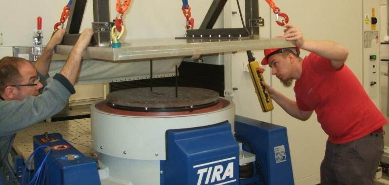 Příprava budiče vibrací pro vibrační zkoušku